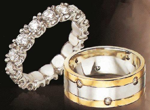 Свадебное обручальное кольцо фото