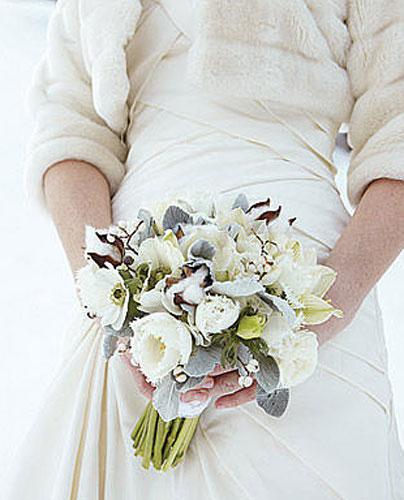 Свадебный букет зимний букет невесты