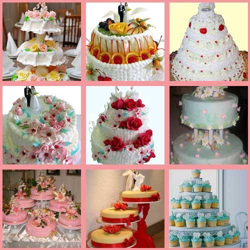 Многоярусные торты украшение