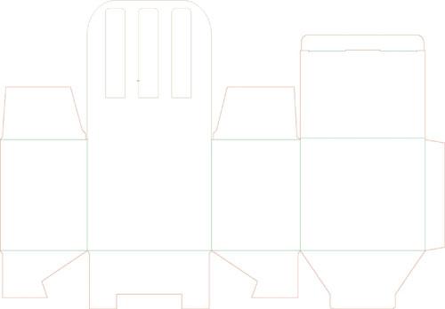 Развертка бонбоньерки стульчика