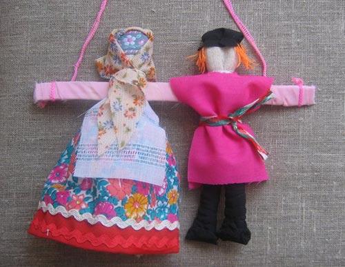 Куклы-неразлучники. Свадебные куклы на машину.