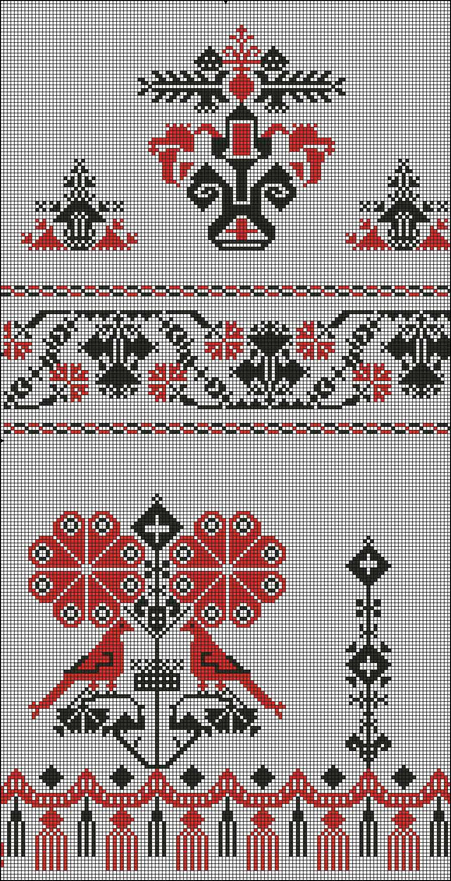Схемы вышивок свадебного рушника