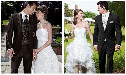 Сочетания Платья Невесты И Костюма Жениха Фото